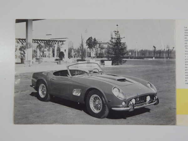 Ferrari 250 California Spyder Sales Brochure