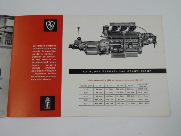 Ferrari 250 PF Coupé Sales Brochure