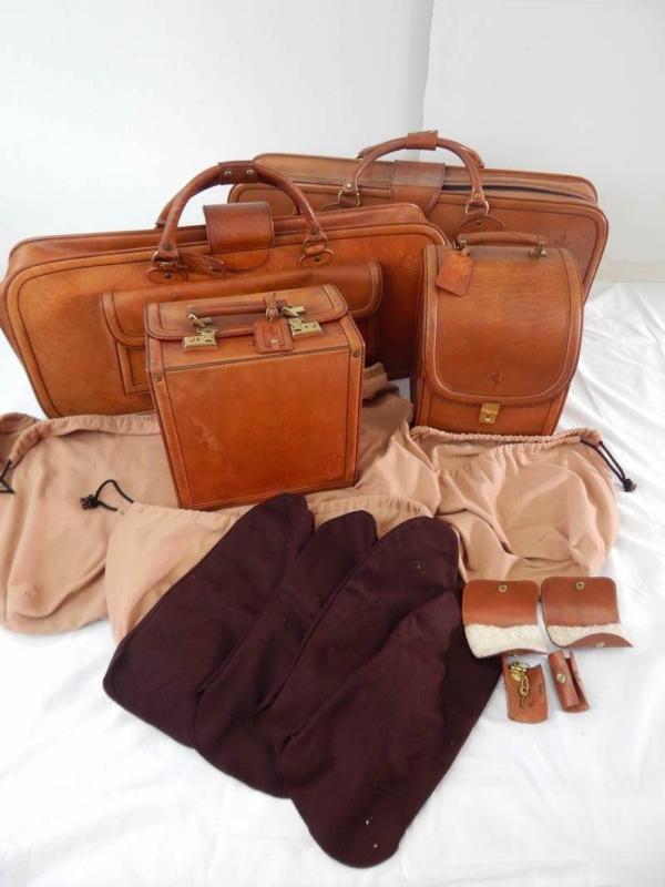 Ferrari 308 328 Complete Schedoni Leather Luggage Set