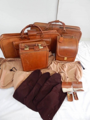 Ferrari 308 328 Complete Schedoni Leather Luggage Set