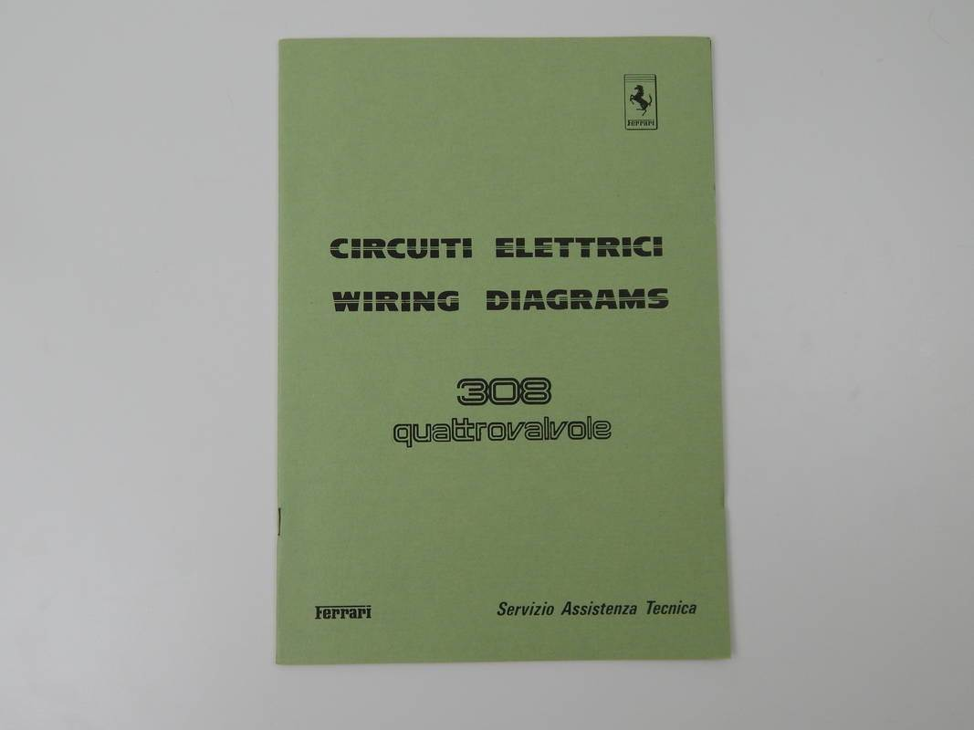 Ferrari 308 QV    Wiring       Diagram    Manual  Classic Ferrari Parts