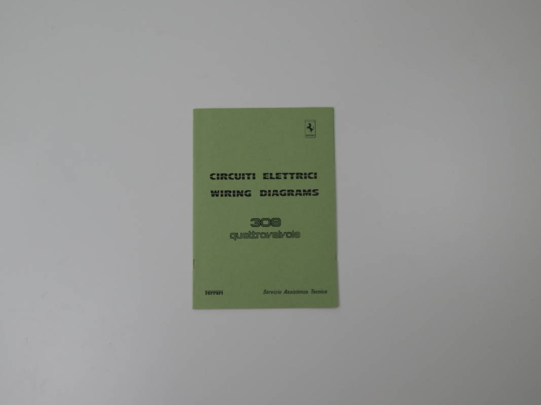 Ferrari 308 QV Wiring Diagram Manual on