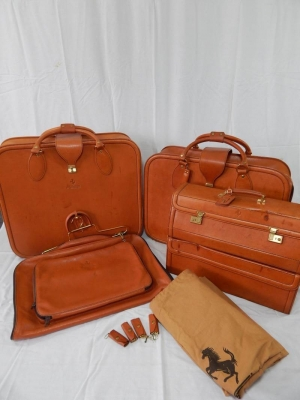 Ferrari 355 Complete 4/5 Piece Schedoni Leather Luggage Set