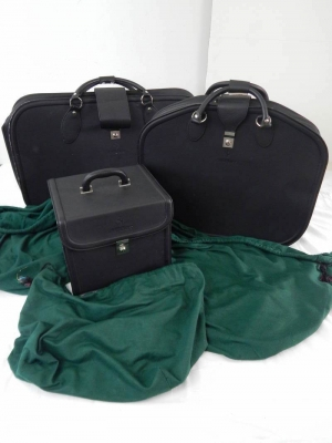 Ferrari 456 GT 3-Piece Schedoni Leather Luggage Set