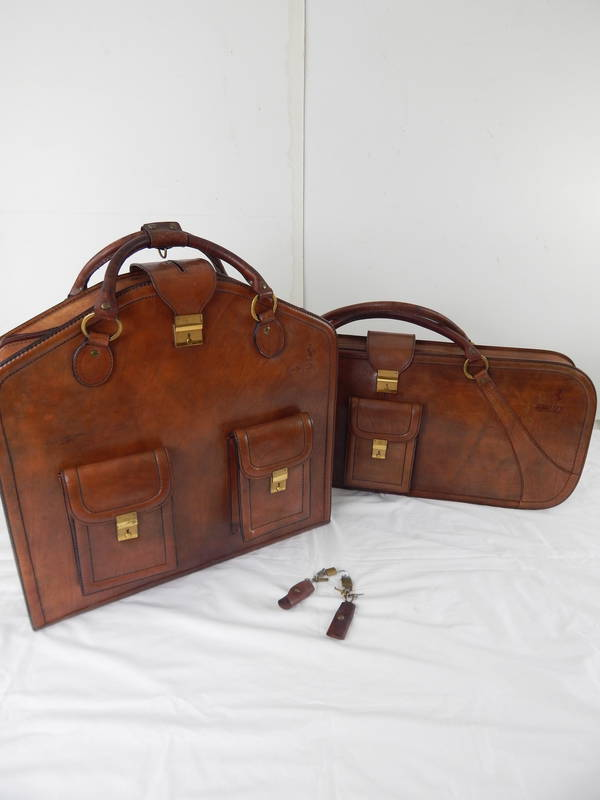 Complete Ferrari 512BB Schedoni Leather Luggage Set
