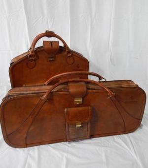 Ferrari 512BBi Complete 2 Piece Leather Luggage Set