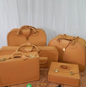 Ferrari 512TR Complete 5 Piece Schedoni Leather Luggage Set