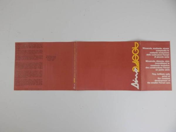 Ferrari 246 GT Brochure 1970