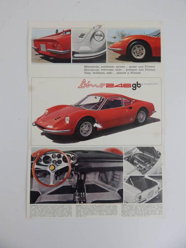 Ferrari 246 GTS Brochure 1973