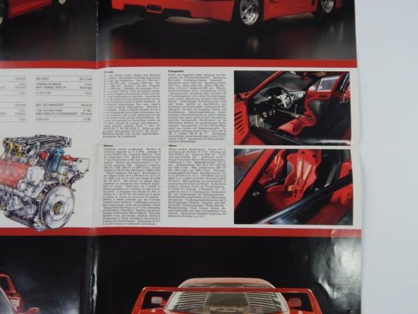 Ferrari F40 Sales Brochure