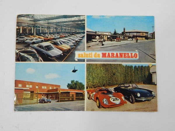 Ferrari Maranello Postcard 1960s