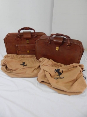Ferrari Mondial Schedoni Leather Luggage Bags