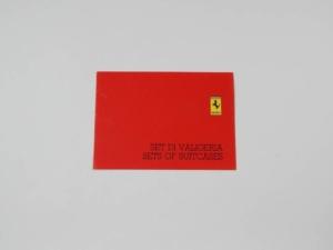 Ferrari Schedoni Luggage Set Sales Brochure