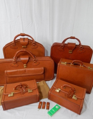 Ferrari Testarossa Complete 6 Piece Schedoni Leather Luggage Set
