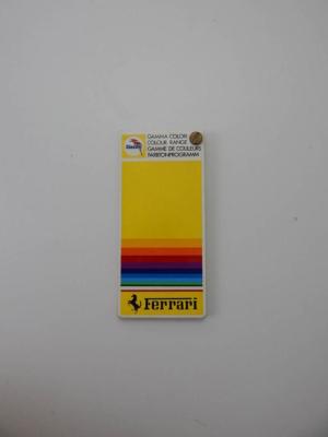 Ferrari 1980s Glasurit Paint Sample Swatch