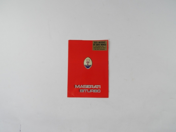 Maserati Biturbo Sales Brochure