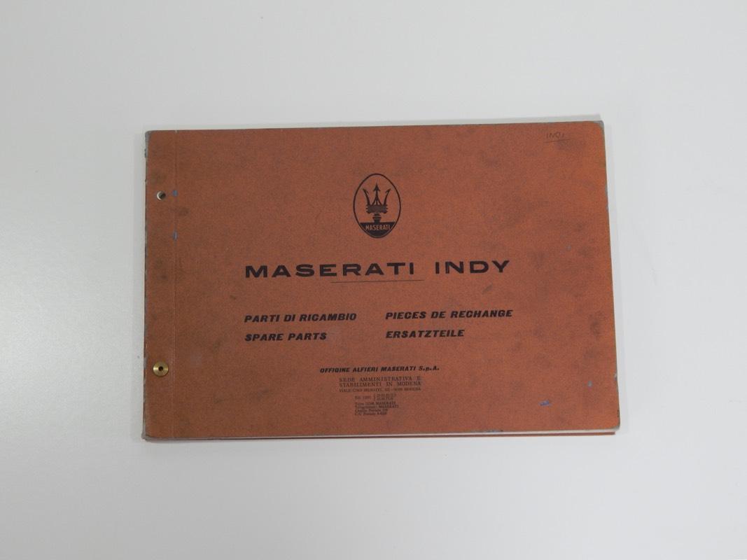 maserati indy spare parts manual - classic ferrari parts