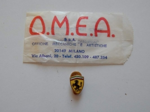 Ferrari 1960s OMEA Milano Lapel Pin & Packet