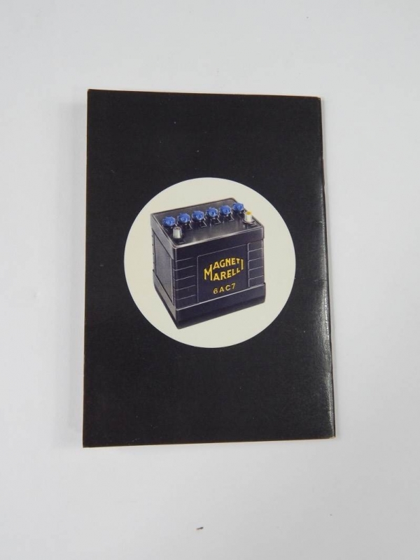 Rare Original Magneti Marelli Battery Manual Ferrari 250 LM 275 330