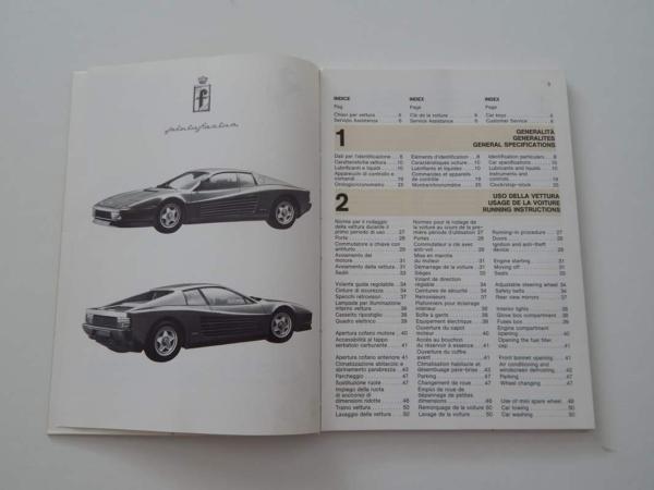 Ferrari Testarossa Complete Pouch Set