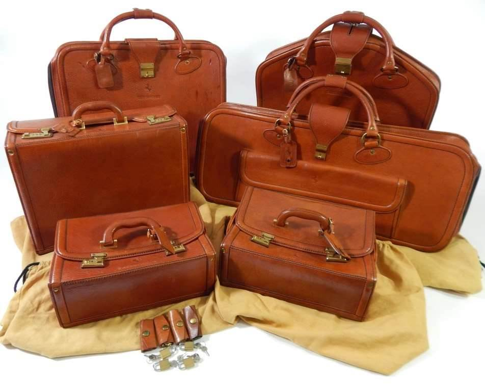 63e225d9f Ferrari Testarossa Complete 6 Piece Schedoni Leather Luggage Set ...