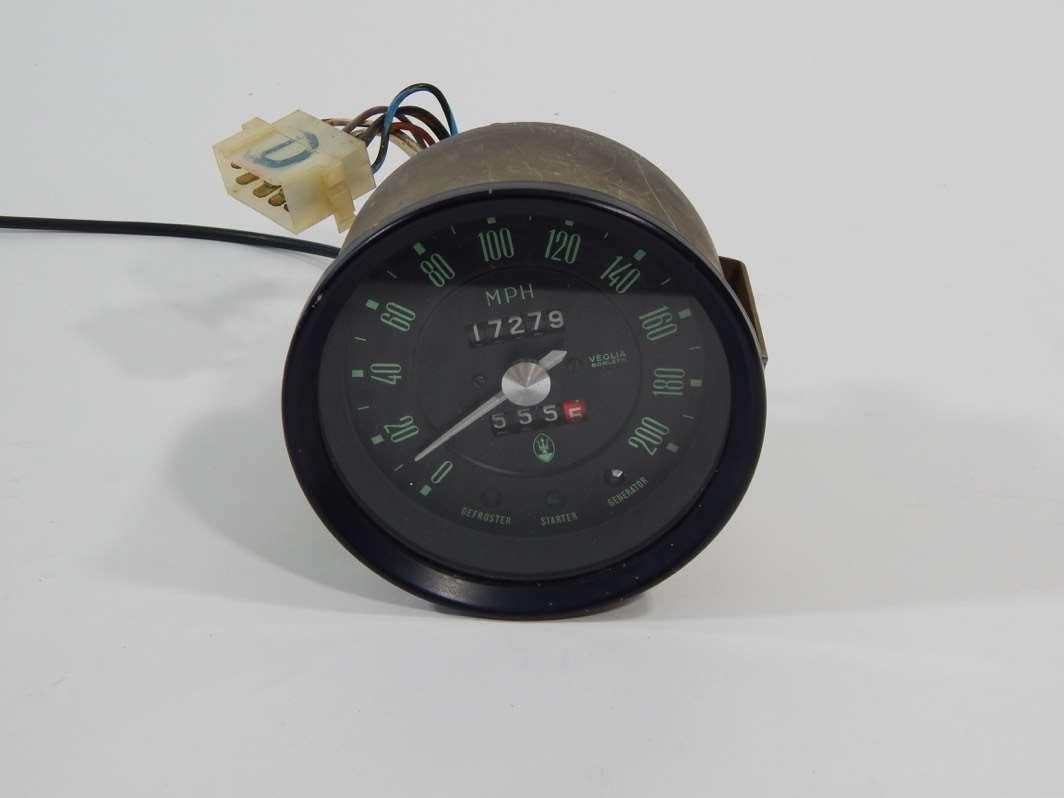 Maserati Bora Indy Khamsin Veglia Borletti Rev Counter Tachometer and on
